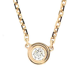 Cartier 18K Rose Gold with 0.01ct Diamond Necklace