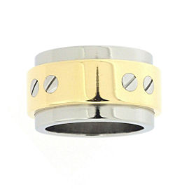 Cartier Santos 100 Ring 18K Yellow Gold and Stainless Steel Size 4.5