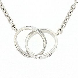 Cartier Baby Love Necklace 18K White Gold