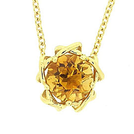 Tiffany & Co. 18K Yellow Gold with Citrine Necklace