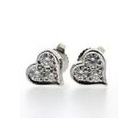 Tiffany & Co. Sentimental Platinum with Diamond Pierced Heart Earrings
