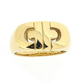 Bulgari 18K Yellow Gold Parentesi Ring Size 7.75
