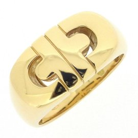 Bulgari 18K Yellow Gold Parentesi Ring Size 7.75