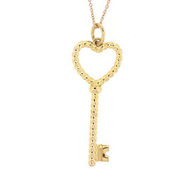 Tiffany & Co. 18K Rose and Yellow Gold Twist Heart Key Necklace