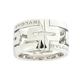 Bulgari Parentesi 18K White Gold Ring Size 5.25