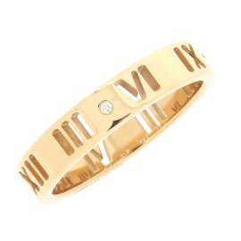 Tiffany & Co. Atlas 18K Rose Gold with Diamond Ring Size 4.75