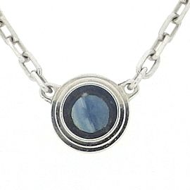 Cartier Saphirs Legers 18K White Gold with Blue Sapphire Necklace