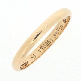 Cartier Wedding Band Ring 18K Rose Gold Size 8