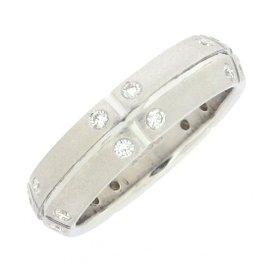 Tiffany & Co. Streamerica 18K White Gold with Diamond Ring Size 5