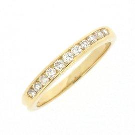 Tiffany & Co. 18K Yellow Gold with Diamond Half Circle Ring Size 4.75