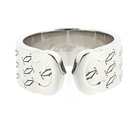 Cartier C2 2000 Ring 18K White Gold Size 5.75