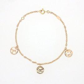 Hermes 18K Rose Gold Dada Plate Bracelet