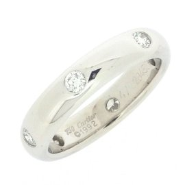 Cartier Stella Ring 18K White Gold with Diamond Size 4