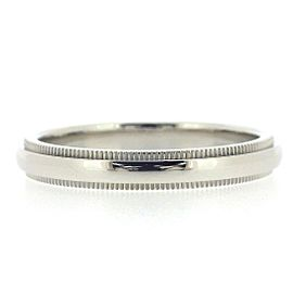 Tiffany & Co. PT950 Platinum Milgrain Ring Size 7.75