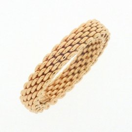 Tiffany & Co. 18K Rose Gold Somerset Ring Size 6