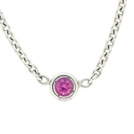 Christian Dior 18K White Gold with 0.01ct Pink Sapphire Necklace