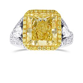 Leibish 18K Yellow & White Gold Diamond Ring Size 6
