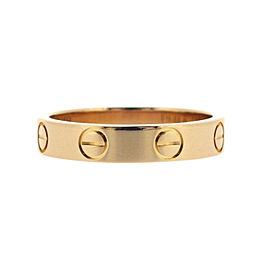 Cartier Love Ring 18K Rose Gold Size 4.75