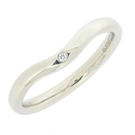Tiffany & Co. PT950 Platinum with 0.01ct Diamond Ring Size 5