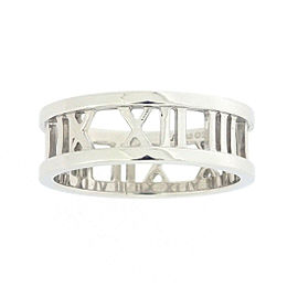 Tiffany & Co. Atlas 18K White Gold Ring Size 7.75