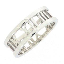 Tiffany & Co. Atlas 18K White Gold Ring Size 7.75