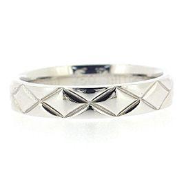 Chanel Matelasse Ring 18K White Gold Size 4.75
