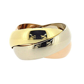 Cartier Trinity LM Ring 18K Yellow, White and Rose Gold Size 6