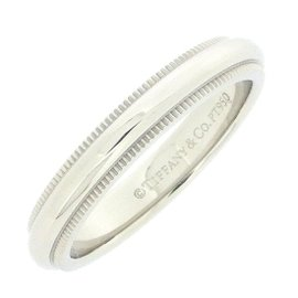 Tiffany & Co. PT950 Platinum Milgrain Ring Size 4.75