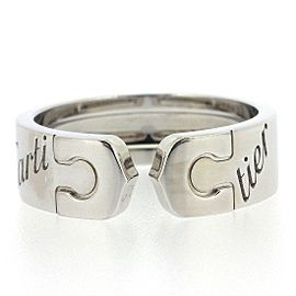Cartier C2 2007 Xmas Limited Ring 18K White Gold Size 6