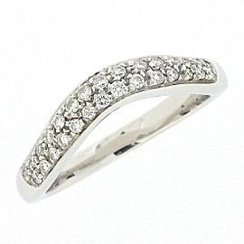 Bulgari 950 Platinum with Diamond Corona Ring Size 4.25