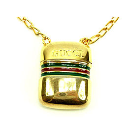 Gucci Gold Tone Hardware Sherry Line Pendant Necklace