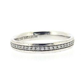 Tiffany & Co. 18K White Gold with Diamond Full Circle Ring Size 5