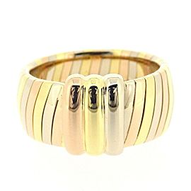 Cartier Trinity Ring 18K Yellow, White & Rose Gold Size 4