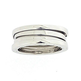 Bulgari B-Zero 1 18K White Gold Ring Size 6.5