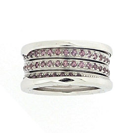 Bulgari B-Zero1 18K White Gold with Garnet Ring Size 5.75