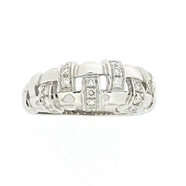 Tiffany & Co. 18K White Gold with Diamond Ring Size 7.5