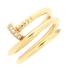Cartier Juste Un Clou Ring 18K Rose Gold with Diamond Size 4.25