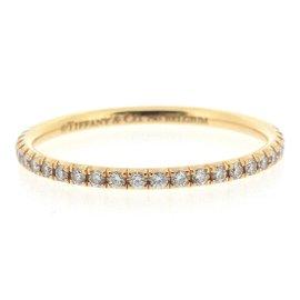 Tiffany & Co. 18K Yellow Gold with Diamond Metro Ring Size 6