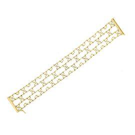 Gucci 18K Yellow Gold GG Logo Bracelet