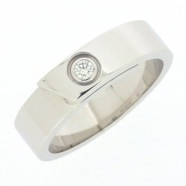Cartier Anniversary Ring 18K White Gold with Diamond Size 8.5