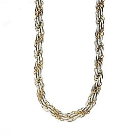 Tiffany & Co. 18K Yellow Gold & 925 Sterling Silver Twist Chain Necklace