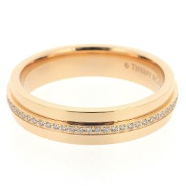 Tiffany & Co. 18K Rose Gold with 0.15ct Diamond Ring Size 7