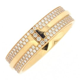 Tiffany & Co. 18K Rose Gold with Diamond Ring Size 8.75