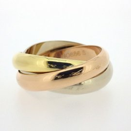 Cartier Trinity Ring 18K Yellow, White & Rose Gold Size 6.25