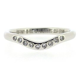 Tiffany & Co. Platinum with 0.09ct Diamond Band Ring Size 4.25