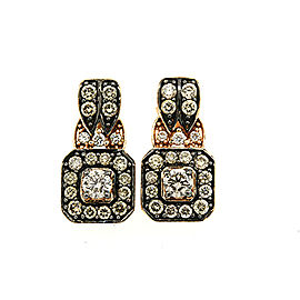 LeVian 14K Rose Gold with 0.77ct Chocolate & Vanilla Diamond Earrings