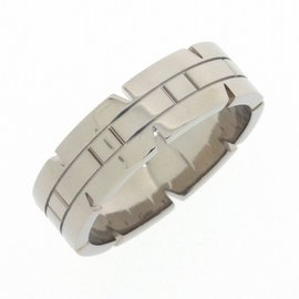 Cartier Tank Francaise Ring 18K White Gold Size 10.25