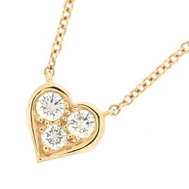 Tiffany & Co. 18K Rose Gold with Diamond Heart Necklace