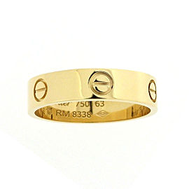 Cartier Love Ring 18K Yellow Gold Size 10.25