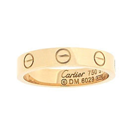 Cartier Mini Love Ring 18K Rose Gold Size 5.75